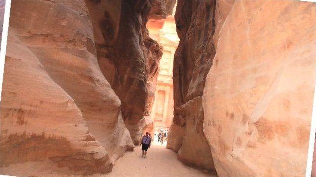 The ruins at Petra