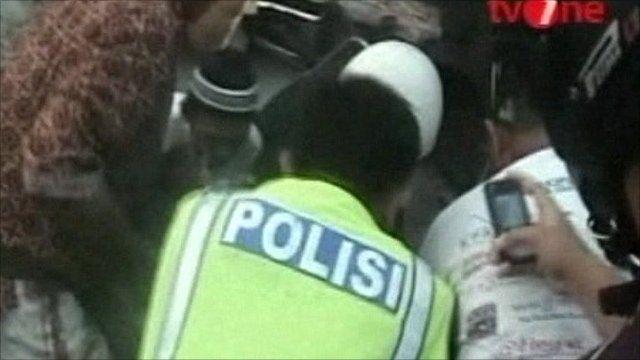 Police at crash scene