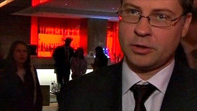 Prime Minister Valdis Dombrovskis