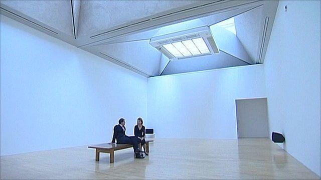 David Sillito at the Turner Prize exhibition