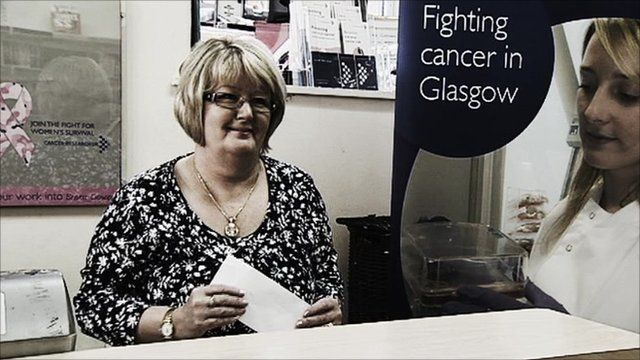 Employee at the Glasgow's Cancer Research shop