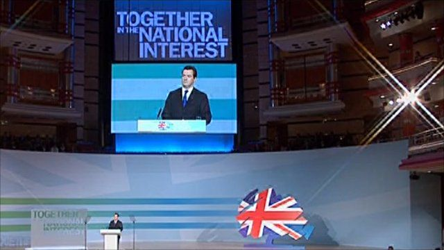 George Osborne at the Conservative Conference