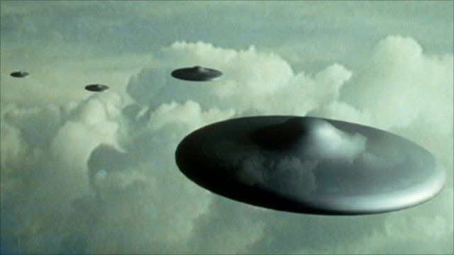 Image of flying saucers