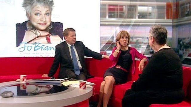 Jo Brand on BBC Breakfast