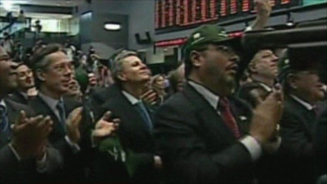 Traders on the trading floor
