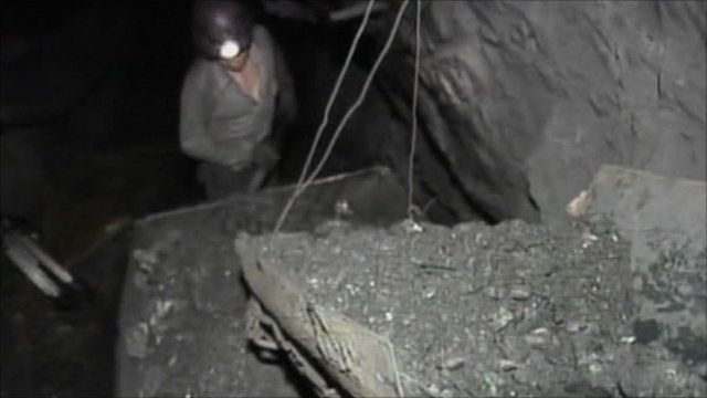 A miner at work