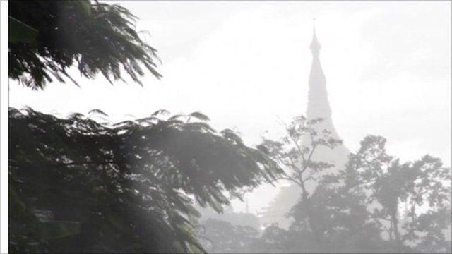 Roof spire in Burma