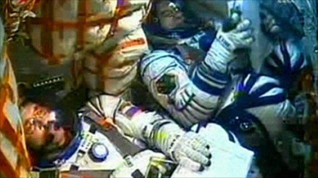 Astronauts on board