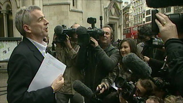 Michael O'Leary speaking outside court