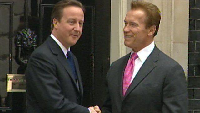 David Cameron and Arnold Schwarzenegger