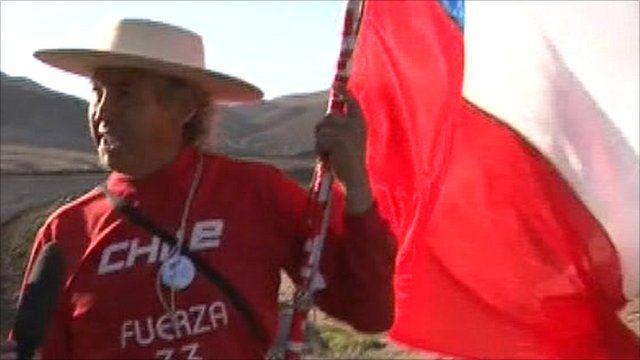 Chile's marathon walker