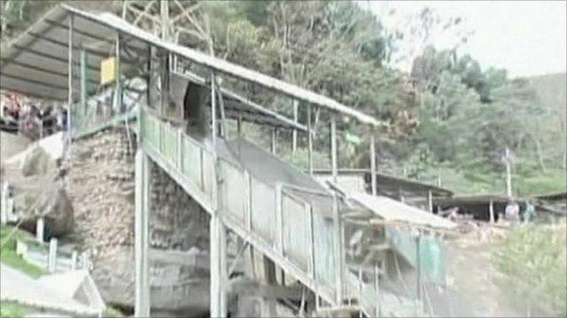 Gold mine, Portovelo, Ecuador