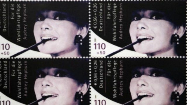 Image result for Audrey Hepburn smoking stamps