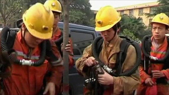 Chinese mine rescue workers