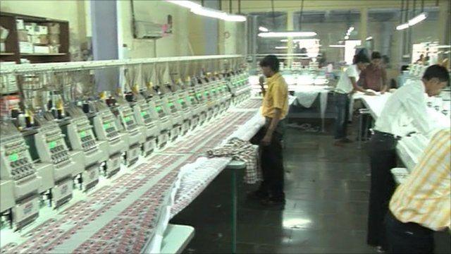 Inside a factory