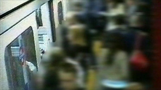 Footage of Tube train before attack