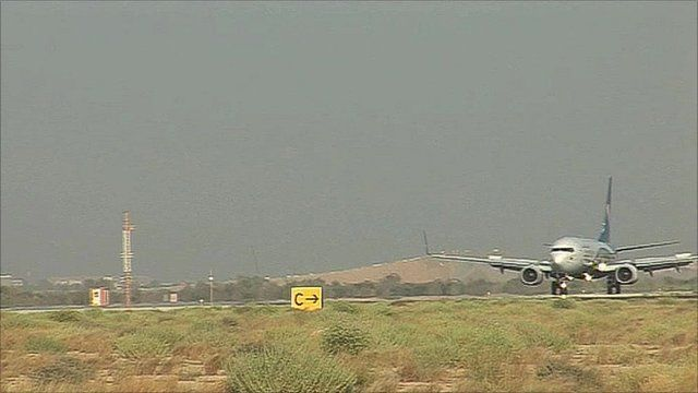 Oman Air plane taking off