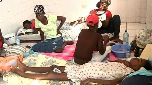 Cholera patients