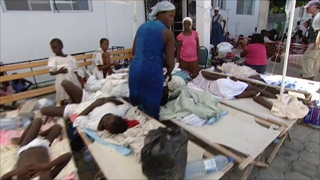 Temporary hospital in Haiti