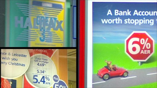 Adverts for saving accounts