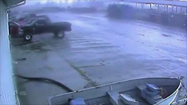 CCTV of tornado courtesy Hoosier Machinery Solutions