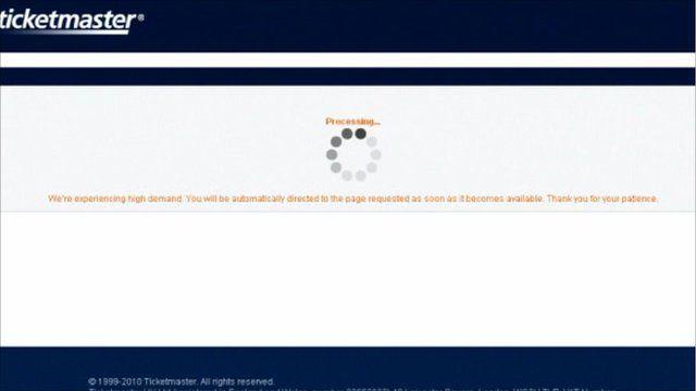 Frozen ticket website screen