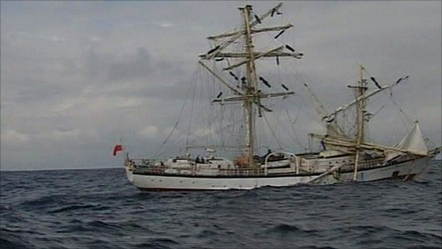 Polish tall ship Fryderyk Chopin