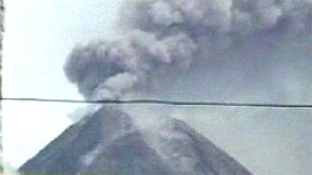 Mount Merapi in Indonesia
