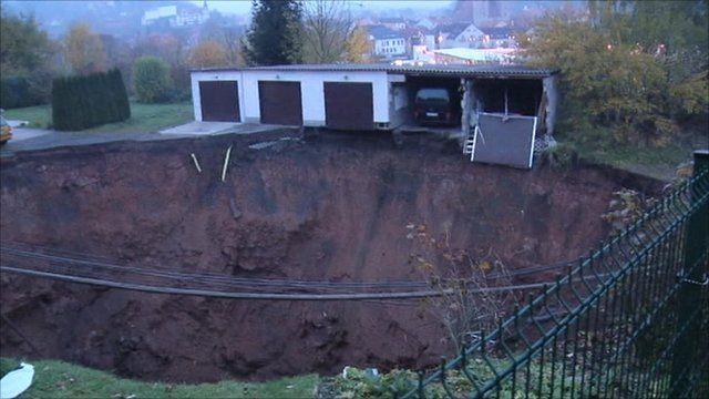 Sinkhole in Germany