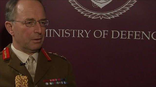 The new Head of the Armed Forces, General Sir David Richards