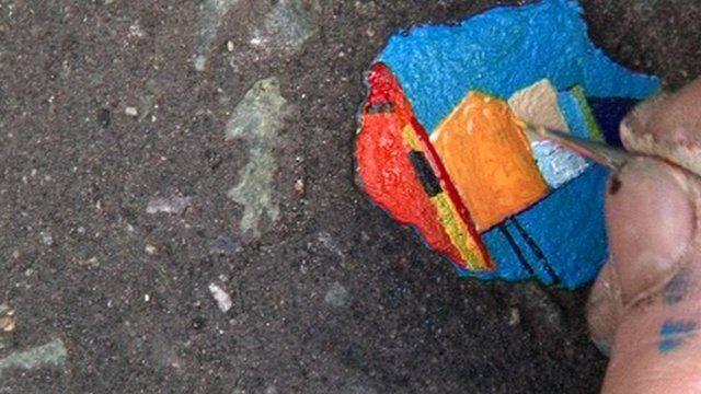 Ben Wilson painting on gum