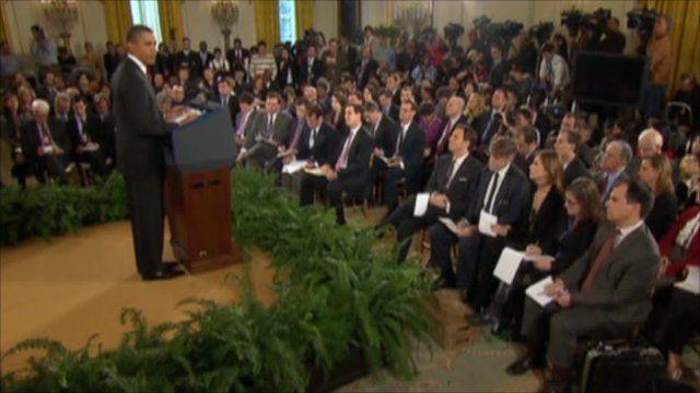 Obama gives news conference