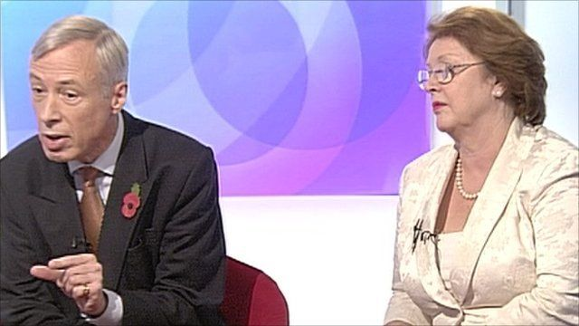 Health minister Frederick Howe and Labour's health spokesman Glenys Thornton