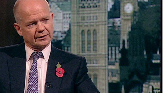 Foreign Secretary William Hague MP