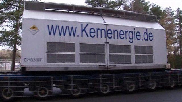 Water truck entering Gorleben
