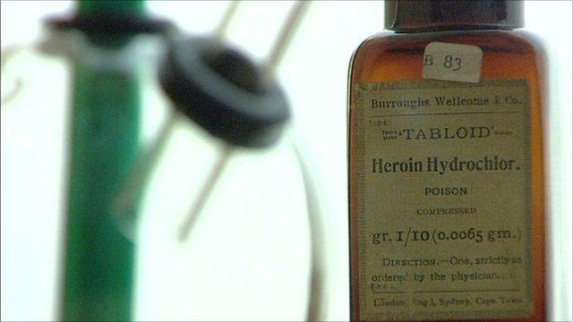 Heroin Hydrochlor bottle