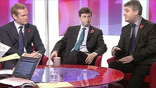Jermey Brownw, Douglas Alexander and Philip Davies