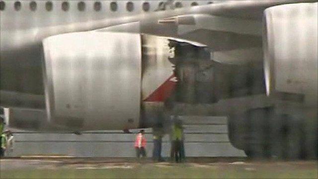 A380 Qantas engine