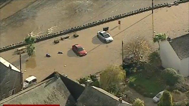Flood-hit area