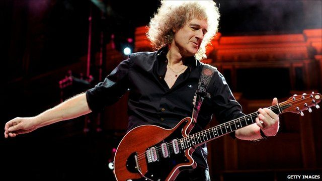 Brian May performing at the Prince's Trust Rock Gala