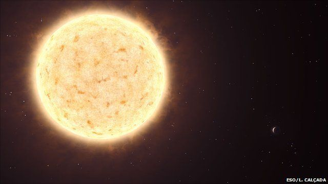The planet orbits a dying star 2000 light years away in the constellation of Fornax