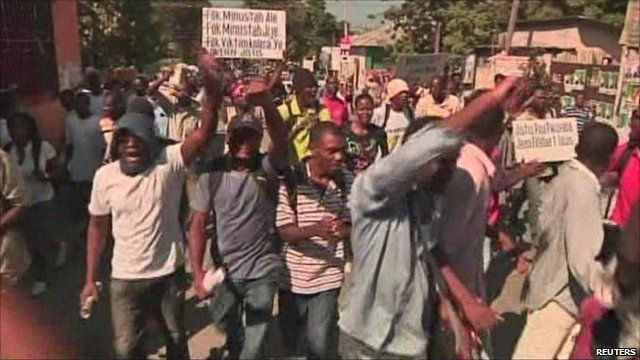 Protest in Port-au-Prince, Haiti