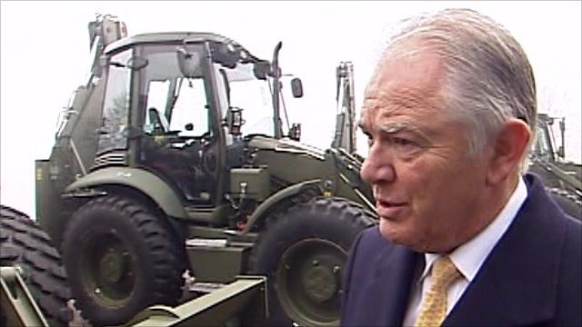 JCB's chief executive officer Alan Blake talks about the contract