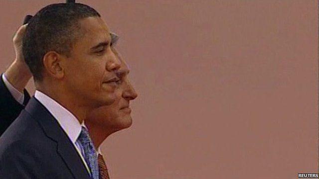 US President Obama and Portugal's President Anibal Antonio Cavaco Silva