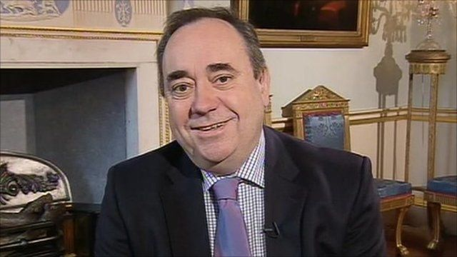 First Minister for Scotland, Alex Salmond on the Andrew Marr Show