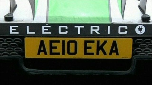 Electric car number plate