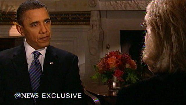 President Barack Obama on ABC television news