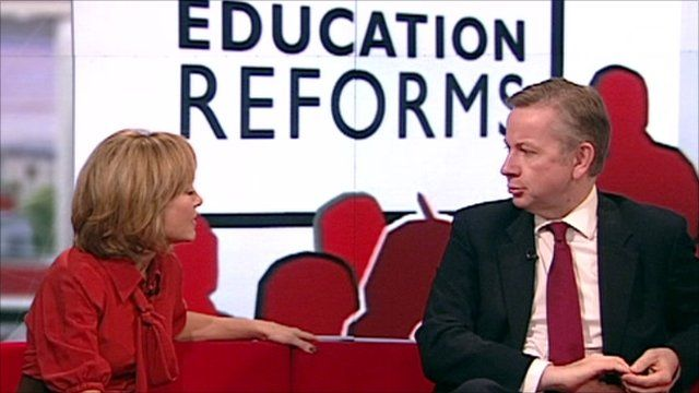 Sian Williams and Michael Gove on the Breakfast sofa