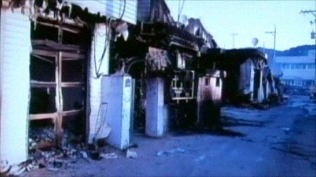 South Korean damaged buildings