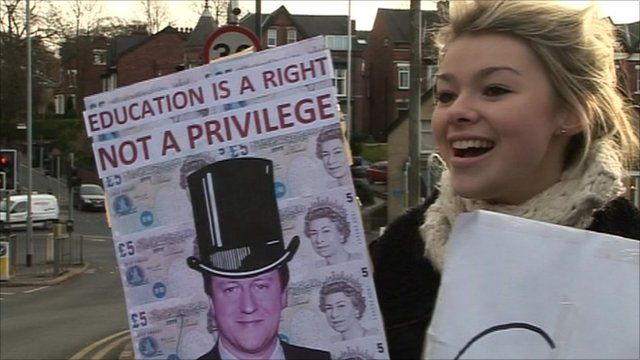 Protesting student